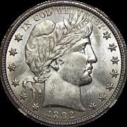 1892-O Ngc MS64 Barber Half Dollar