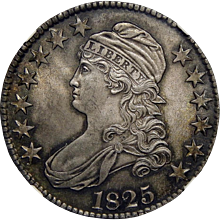 1825 Ngc MS64 Capped Bust Half Dollar