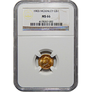 1903 Ngc MS66 $1 Louisiana Purchase, McKinley Gold