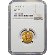 1911 Ngc MS63 $2.50 Liberty Head Gold