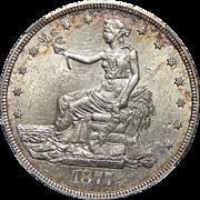 1877-S Ngc MS60 Trade Dollar