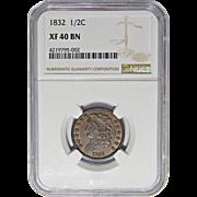 1832 Ngc XF40BN Classic Head Half Cent