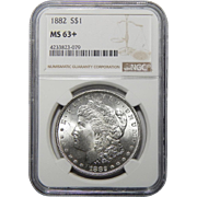 1882 Ngc MS63+ Morgan Dollar