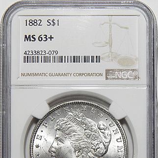1882 Ngc MS63+ Morgan Dollar