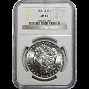 1881-O Ngc MS65 Morgan Dollar
