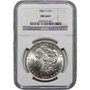 1884-O Ngc MS64+ Morgan Dollar