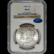 1899 Ngc/Cac MS65 Morgan Dollar