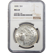 1890 Ngc MS63 Morgan Dollar