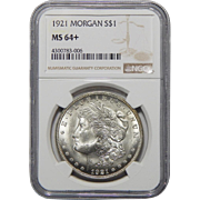 1921 Ngc Morgan MS64+ Morgan Dollar