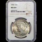 1924 Ngc MS64+ Peace Dollar