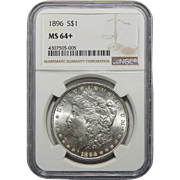 1896 Ngc MS64+ Morgan Dollar