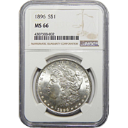 1896 Ngc MS66 Morgan Dollar