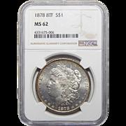 1878 8TF Ngc MS62 Morgan Dollar