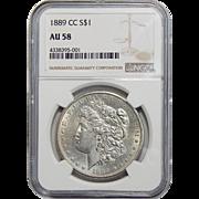 1889-CC Ngc AU58 Morgan Dollar