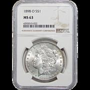 1898-O Ngc MS63 Morgan Dollar