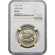 1937 Ngc MS64 Antietam Half Dollar