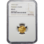 1915-S Ngc MS63 $1 Panama-Pacific Gold