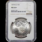1878-CC Ngc MS64+ Morgan Dollar