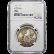1923-S Ngc MS64 Monroe Half Dollar