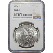 1904 Ngc MS63 Morgan Dollar