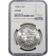 1900-S Ngc MS63 Morgan Dollar
