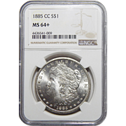 1885-CC Ngc MS64+ Morgan Dollar