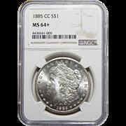 1885-CC Ngc MS64+ Morgan Dollar