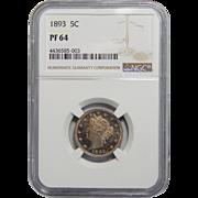 1893 Ngc PF64 Liberty Nickel