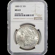 1880-CC Ngc MS63 Morgan Dollar