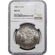 1883-S Ngc MS62 Morgan Dollar