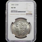 1901-S Ngc AU58 Morgan Dollar