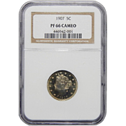 1907 Ngc PF66CAM Liberty Nickel