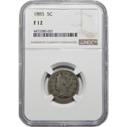 "1885 Ngc F12 Liberty ""V"" Nickel"