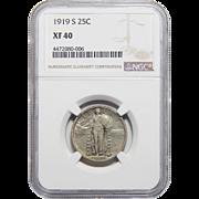 1919-S Ngc XF40 Standing Liberty Quarter