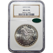 1899-O Ngc/Cac MS65PL Morgan Dollar