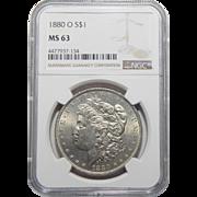 1880-O Ngc MS63 Morgan Dollar