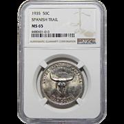 1935 Ngc MS65 Spanish Trail Half Dollar