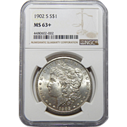 1902-S Ngc MS63+ Morgan Dollar