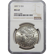 1897-S Ngc MS62 Morgan Dollar