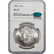 1880-S Ngc/Cac MS67 Morgan Dollar