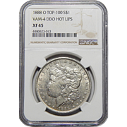 1888-O Ngc XF45 Doubled Die Obverse, VAM-4 Hot Lips Morgan Dollar