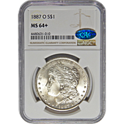 1887-O Ngc/Cac MS64+ Morgan Dollar