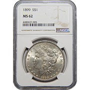 1899 Ngc MS62 Morgan Dollar