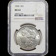 1904 Ngc MS62 Morgan Dollar