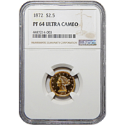 1872 Ngc PF64 Ultra Cameo $2.50 Liberty Head Gold