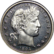 1894 Ngc PF66 Barber Half Dollar