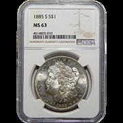 1885-S Ngc MS63 Morgan Dollar