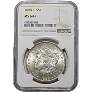 1898-O Ngc MS64+ Morgan Dollar