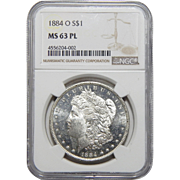 1884-O Ngc MS63PL Morgan Dollar