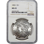1884 Ngc MS65 Morgan Dollar